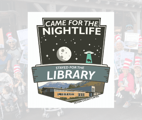 image of library came for the night life sticker