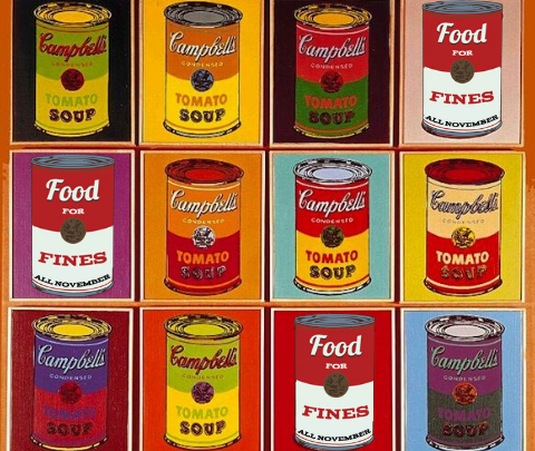 image of soup cans