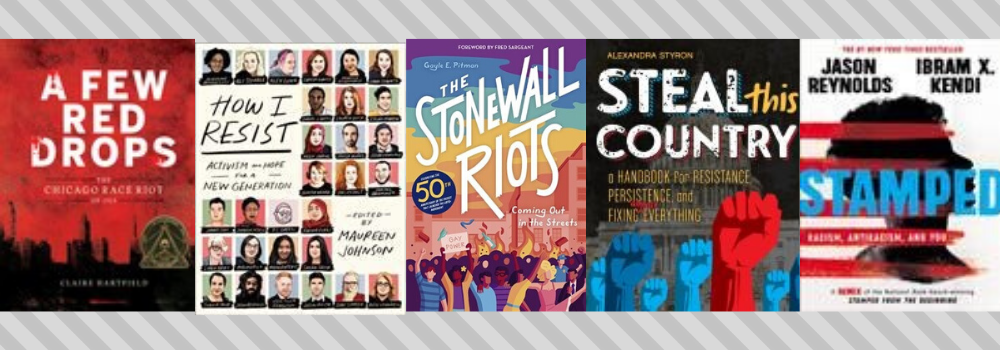 YA activist book cover images