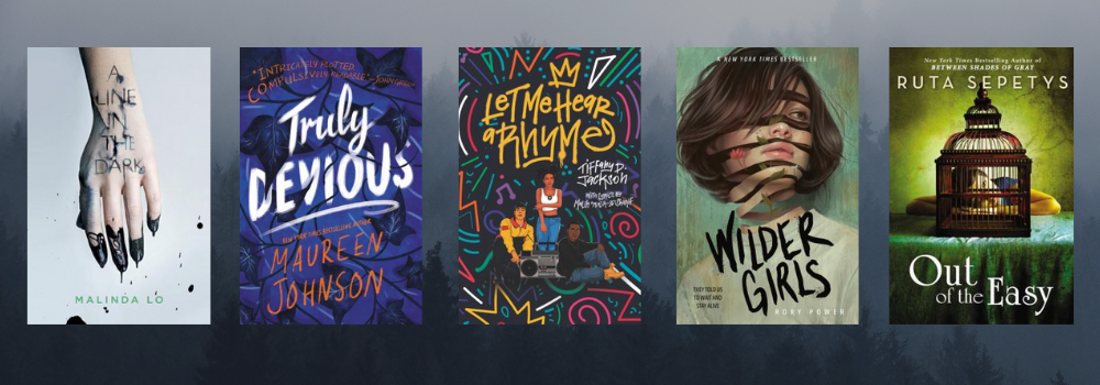 images from five different mystery YA books