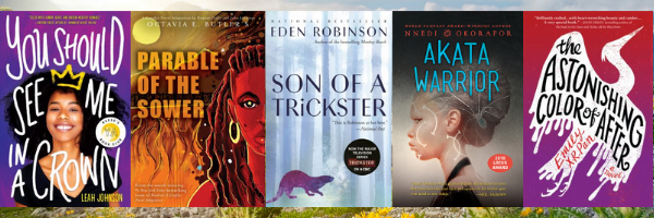 images of Lauras favorite YA books for the year