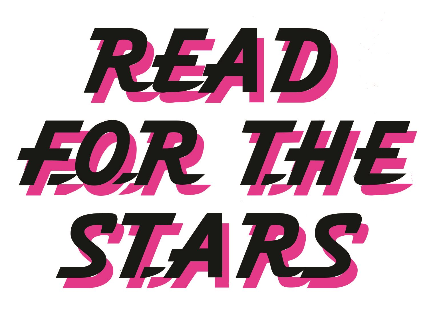 "image of the words ""read for the stars"""