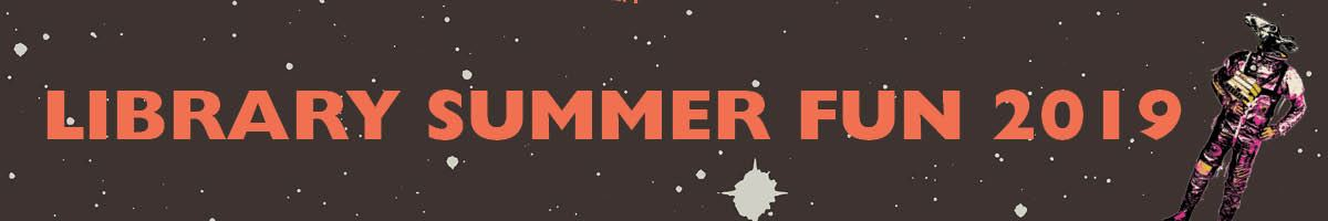 image of library summer fun spaceman logo
