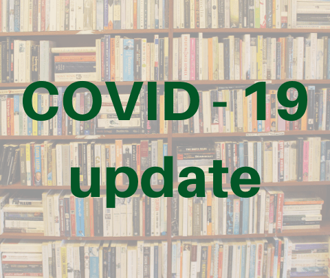 "image with words ""COVID-19 update"""