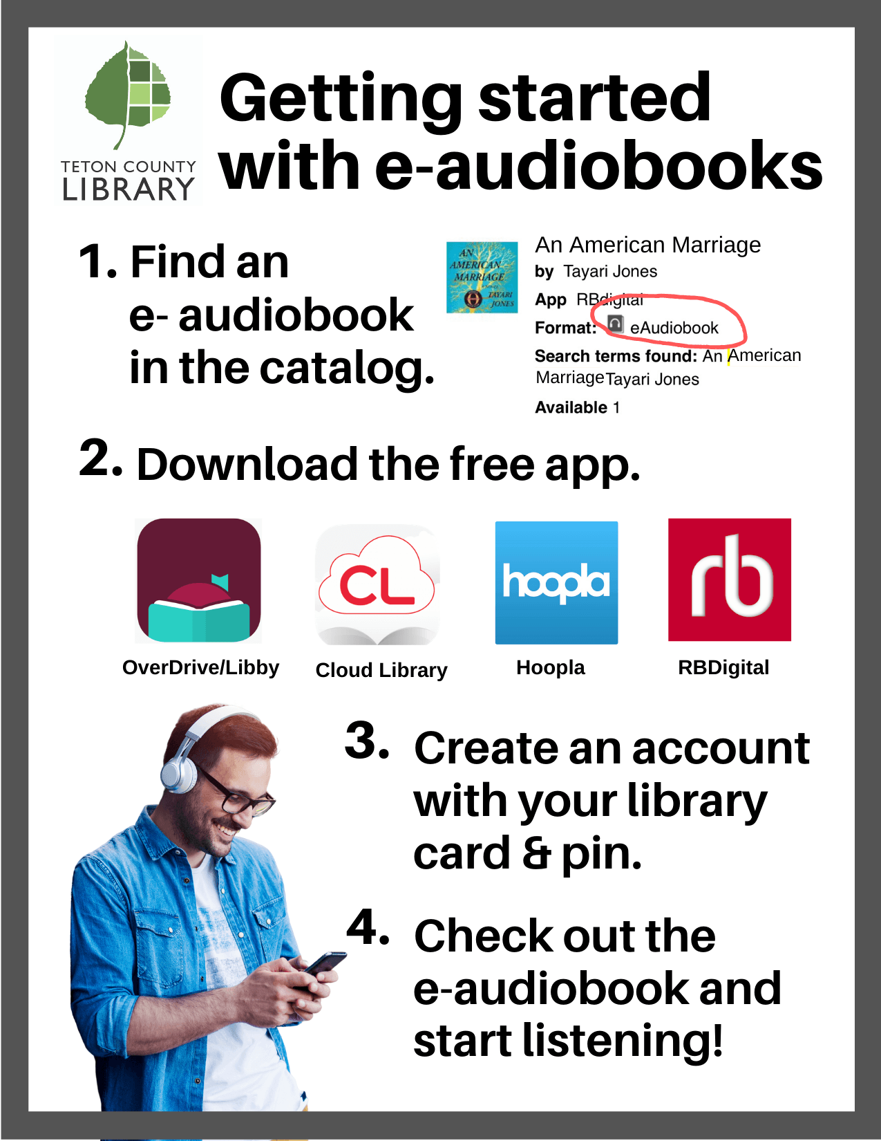 image with e-audiobooks instructions