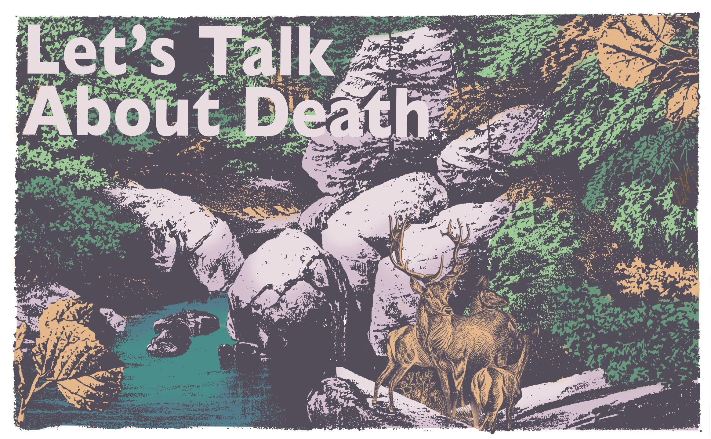 "image with the words ""let's talk about death"""